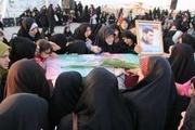 آئین وداع با پیکرهای سه شهید گمنام در نور برگزار شد