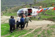پرواز بالگرد اورژانس هوایی لرستان برای نجات جان ۲ بیمار+ تصاویر