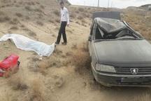 واژگونی سواری پژو در قزوین یک کشته برجا گذاشت