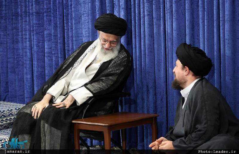 سید حسن خمینی و رهبر معظم انقلاب
