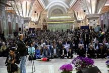 مراسم تحویل سال نو در حرم امام راحل برگزار شد