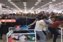 هجوم مردم روسیه به فروشگاهی که تخفیف ویژه گذاشته است!