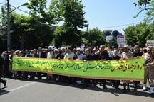 مردم آستارا فریاد دفاع از مظلومان فلسطین را سر دادند