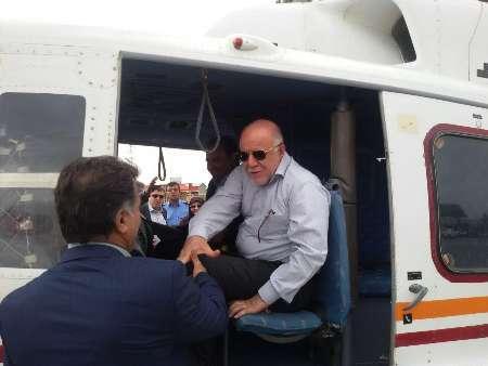 وزیر نفت از برخی طرحها و بافتهای فرسوده شهر دوگنبدان دیدن کرد