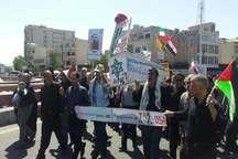 تابوت اسراییل روی دوش روزه داران تهران