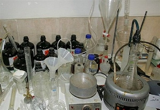 کارگاه بزرگ موادمخدر صنعتی در کرمانشاه کشف شد
