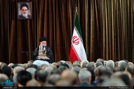 دیدار وزیر امور خارجه، سفیران و مسئولان نمایندگیهای ایران در خارج از کشور با رهبر معظم انقلاب