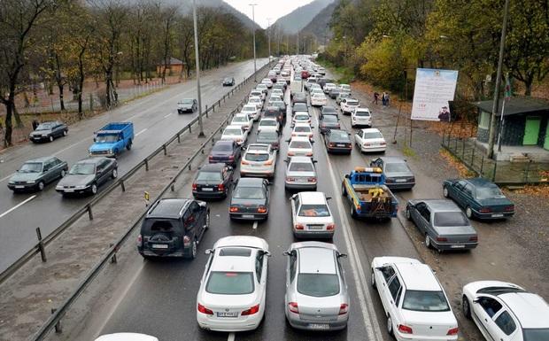 ترافیک سنگین در بخشی از آزاد راه تهران - کرج - قزوین