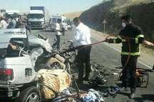 پنج کشته و یک مصدوم در تصادف محور بستان آباد- قره چمن