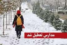 تعطیلی مدارس برخی شهرهای گیلان به دلیل بارش برف و برودت هوا