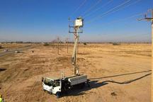 کار تعویض 2 هزار مقره شبکه برق شمال غرب کلانشهر اهواز آغاز شد