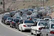 جاده کرج - چالوس یک طرفه شد  ترافیک سنگین دراین محور