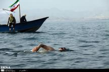 جانبازان در خلیج فارس به آب زدند