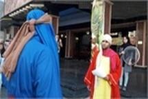 """اجرای نمایش خیابانی """"ادریس پیامبر"""" در رشت"""
