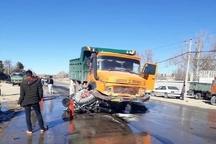کامیون، پراید 40 میلیونی را خورد   ناپدید شدن تنها قربانی تصادف+عکس