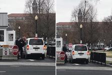 عکس/ زن مسلحی که تلاش کرد با خودرو وارد کاخ سفید شود