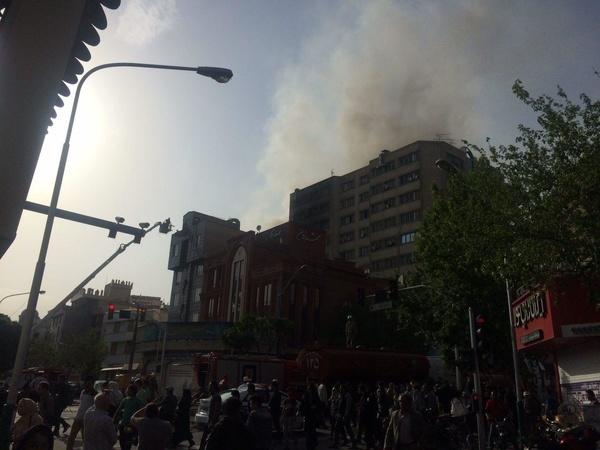 آتشسوزی در هتل 20 طبقه در مشهد