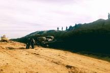 واژگونی بولدوزر منجر به جان باختن راننده در گچساران شد