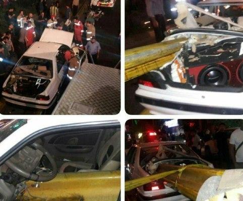 برخورد مرگبار خودرو سواری با گاردیل بزرگراه رسالت تهران