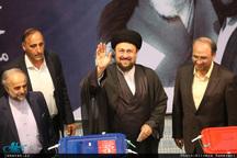 حضور سید حسن خمینی در پای صندوق رای