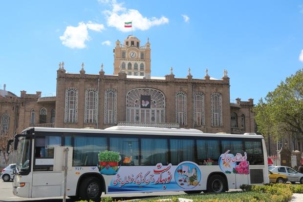 155 هزار گردشگر از اتوبوس های تبریزگردی استفاده کردند