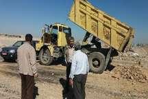 توقیف خودروهای تخلیه پسماند درشهرستان ساوجبلاغ
