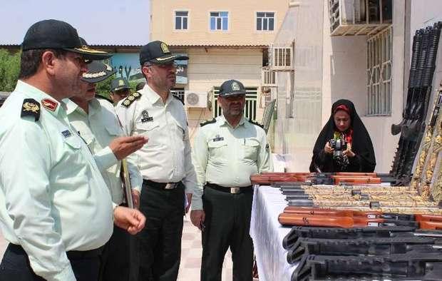 98 قبضه سلاح غیر مجاز در خوزستان کشف شد