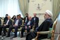 تصاویر/ دیدار عیدانه جمعی از اعضای هیئت دولت و مسولین با رئیس جمهور