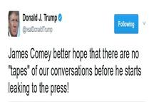 هشدار توئیتری ترامپ به مدیر برکنار شده افبیآی