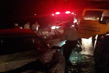 تصادف در نزدیکی دیواندره یک کشته برجای گذاشت