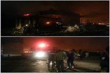 آتش سوزی به شرکت پگاه خوزستان خسارت زد