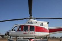یک فروند بالگرد هلال احمر در پاکدشت مستقر شد