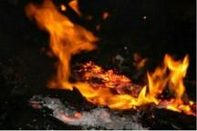 آتش سوزی در انبار کارخانه قارچ شهرکرد
