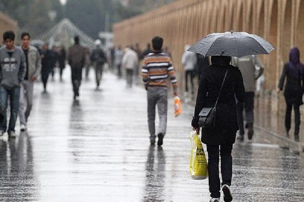 باران پاییزی استان اصفهان را فراگرفت