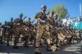 آیین سان و رژه نیروهای مسلح در بروجرد برگزار شد