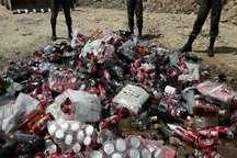 امحاء بیش از یک هزار و 600 بطری مشروبات الکلی در مراغه