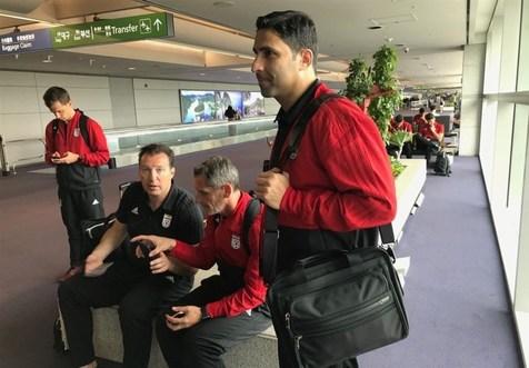 ویلموتس تماشاگر ویژه بازی تدارکاتی تیم ملی المپیک