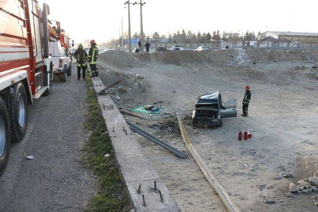 واژگونی خودرو چهار دانش آموز را مصدوم کرد