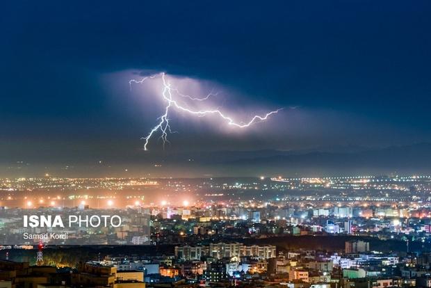 رعد و برق های آسمان کرج + تصاویر
