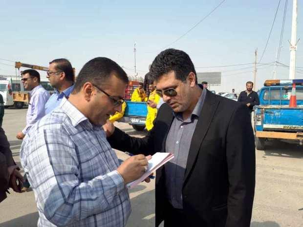 9 شهرداری معین خوزستان در مرز شلمچه مستقر شدند