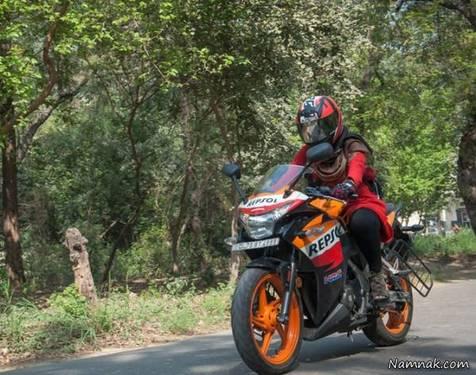موتورسواری خانمها، راهکاری برای کاهش آلودگی هوا؟!