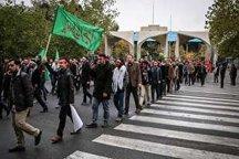 حرکت دسته عزاداری دانشجویان از دانشگاه تهران تا بیت رهبری