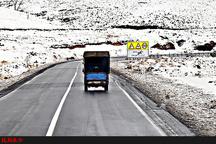 بارش برف و باران در جادههای خراسان رضوی  وقوع چهار فقره تصادف جرحی در جادههای استان