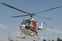 مجروح تصادف درسپیدان با بالگرد به شیراز منتقل شد
