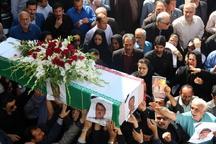 پیکر استاندار فقید گیلان در رشت تشییع شد