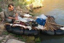 دستگیری صیاد متخلف در شهرستان چگنی  کشف ۱۱۰ قطعه ماهی