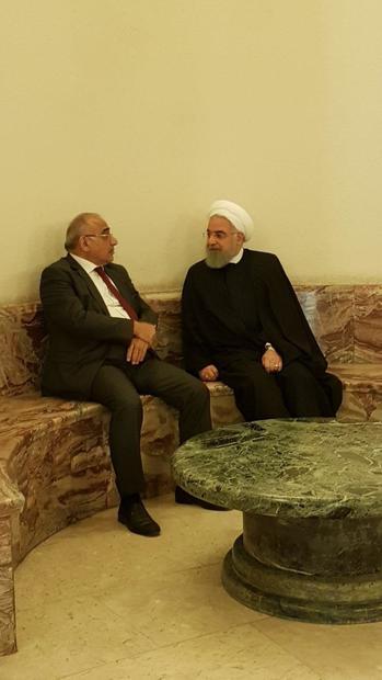 روایت معاون ارتباطات دفتر رییسجمهور از خلوت روحانی با نخست وزیر عراق + عکس