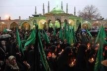 مراسم شب وفات حضرت معصومه (س) در قزوین برگزار شد