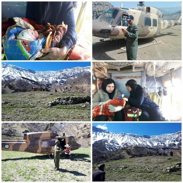 تولد نوزاد دختر با کمک کارشناسان اورژانس هوایی دزفول