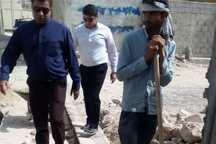 دستور تخریب یک طرح عمرانی در گناوه صادر شد